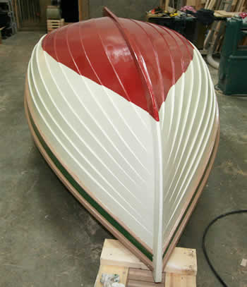 the finished hull of the peapod