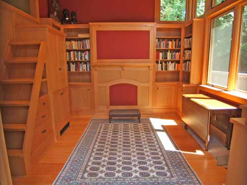 Library With Murphy Bed
