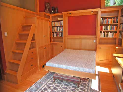 Library Murphy Bed Down